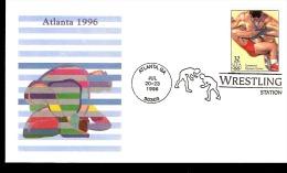 ATLANTA 1996 BUSTA CON AFFRANCATURA ED ANNULLO SPECIALE LOTTA WRESTLING - Lotta