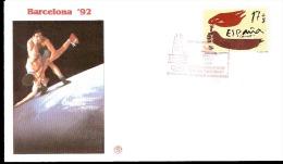 BARCELONA 92 BUSTA FILAGRANO RAFFIGURANTE LOTTA CON ANNULLO SPECIALE - Lotta