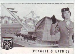 PUBLICITE AUTOMOBILLE  RENAULT DAUPHINE . EXPOSITION DE BRUXELLES 1958 - Advertising