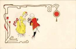 Cpa Illustrateur, Période Art Nouveau - Couple - Künstlerkarten