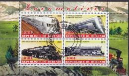 BURUNDI - Nouveautés 2011 - Feuillet De 4 TP - Locomotives - Tous Oblit