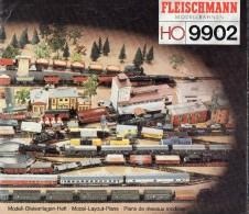 MODELISME - TRAINS  ELECTRIQUES -  FLEISCHMANN  9902  HO  - PLANS DE RESEAUX  (en Allemand, Anglais Et Français) - Catalogues