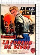 LA FUREUR DE VIVRE   -  James DEAN      -  D Après Affiche - Affiches Sur Carte