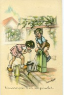 BOURET G. - Enfants à La Fontaine , Bois Pas Tout ...... - Bouret, Germaine