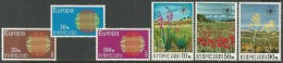 Cyprus  1970    Sc#340-5  Europa & Conservation Sets MLH*  2016 Scott Value $3.80 - Zypern (Republik)