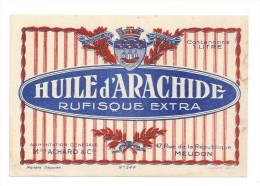 Etiquette  D´Huile D´Arachide Rufisque   -   Alimentation Générale Achard Et Cie  à  Meudon   (92) - Other
