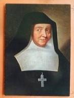 V09-74-V-sainte Jeanne Francoise De Chantal-portrait Peint En 1636-se Trouve A La Visitation De Turin-- - France