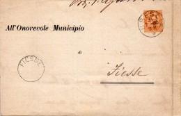 1886    LETTERA CON ANNULLO  BRESCIA  + FIESSE - 1878-00 Umberto I