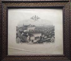 KARTEN MAPS SLOWENIEN BISCHOFLACK IN KRAIN SKOFIJA LOKA SLOWENIA KLOSTER St. URSULA A.BENOIT GRAVEUR BARBETTE PARIS - Karten