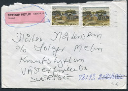 1988 Iceland CEPT Retour Cover - Sweden - 1944-... Republique