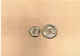 """2 Pièces En Métal Collection BP   """"Trésor Des Monnaies Antiques"""" - Advertising"""