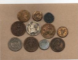 """11 Pièces En Métal Collection BP   """"Trésor Des Rois De France"""" - Publicité"""