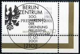 A12-07-1) BRD - Mi 2162 ECKE REU - Zentrisch OO Gestempelt (D) - 110Pf/56C   Preußen - Oblitérés