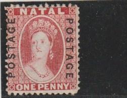 NATAL - YVERT N°23 (*) SANS GOMME - COTE = 100 EUROS - FILIGRANE CC - - Natal (1857-1909)