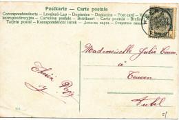 190? !RELAIS! Fantasiekaart Met PZ53 Van Heers Naar Aubel  Vertrekstempel Zie Scan(s) - 1893-1907 Armoiries