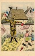 A.Jaegy: Illustration Patriotique: L´épouvantail. - Illustrateurs & Photographes