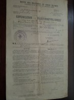 CONVOCATION - BIJEENROEPINGSBRIEF ( De Ley 1921 / Mechelen ) Anno 1928 - Modèle J ( 2 Pag. - Zie Foto's Voor Detail ) ! - Documents