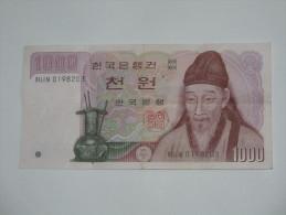 1000 Won  - CORRE DU SUD - The Bank Of Korea  **** EN ACHAT IMMEDIAT ***** - Corée Du Sud