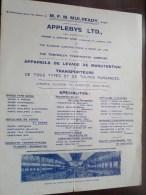 APPLEBYS / M.F.M. MULREADY Gand - Appareils De Levage De Manutention Et Transporteurs ( Type Apparaten Zie Foto's ) ! - Publicités
