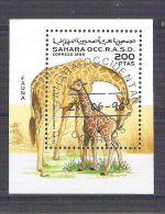 Sahara OCC R.A.S.D 1996 Giraffe, Perf. Sheet, Used AB.015 - Etichette Di Fantasia