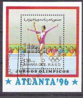Sahara OCC R.A.S.D 1996 Sport, Olympics, Perf. Sheet, Used AB.018 - Etichette Di Fantasia