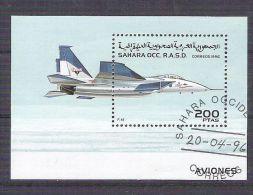 Sahara OCC R.A.S.D 1996 Aviation, Perf. Sheet, Used AB.019 - Etichette Di Fantasia