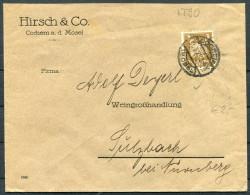 1925 Hirsch & Co Weingroshandlung Wine Cochem Mosel Brief - Brieven En Documenten