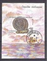 Madagascar 1993 Molluscs, Perf. Sheet, Used AB.035 - Madagascar (1960-...)