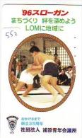 Télécarte  Japon  * SUMO (552)  LUTTE  LUTTEURS WORSTELEN * JUDO * Kampf Wrestling *  LUCHA * PHONECARD JAPAN * - Sport