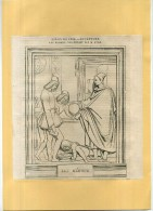 - LES MEDICIS . SALON DE 1835 . GRAVURE SUR BOIS  DU XIXe S . DECOUPEE ET COLLEE SUR PAPIER . - Sculptures