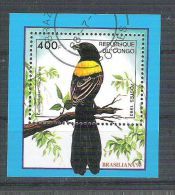 Congo 1993 Birds, Perf. Sheet, Used AB.091 - Congo - Brazzaville