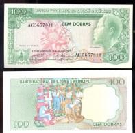 ST THOMAS & PRINCIPE * 100 DOBRAS * P 53 YEAR 1977 * UNC BANKNOTE - San Tomé Y Príncipe