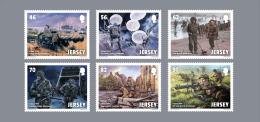 Jersey 2014 - D-Day 70 Anniversary Stamp Set Mnh - WO2