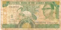 BILLETE DE GAMBIA DE 10 DALASIS DEL AÑO 1991   (BANKNOTE) BIRD-PAJARO - Gambia