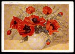 Russia USSR 1963 Stationery Postcard Poppies - Flora