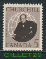 CANADA STAMPS - SIR WINSTON CHURCHILL - SCOTT No 440 - 1965 0.05 CENTS - USED - - 1952-.... Règne D'Elizabeth II
