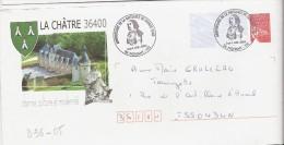 D36-05 Entier / Stationery / PSE - PAP Luquet RF - George Sand, La Châtre (36) - Agrément 809 B2K/0303925 - PAP: Ristampa/Luquet