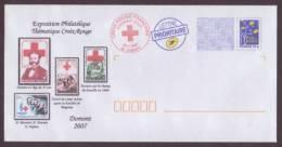 PàP - Croix-Rouge - Henri Dunant-Exposition Philatélique Thématique Croix-Rouge Avec Obl.1er Jour Sur Env. - Domont 2007 - Croix-Rouge