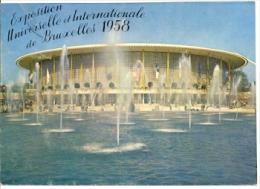 7-belg12. Postal Bélgica. Bruxelas. Exposición Universal 1958. Pabellón USA - Exposiciones Universales