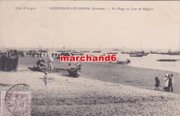 Gironde Andernos Les Bains La Plage Un Jour De Régates - Andernos-les-Bains