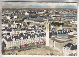 LORIENT 56  - Place Alsace Lorraine - Panorama Sur L'Arsenal Eglise ND Victoires - CPSM Dentelée Colorisée GF - Morbihan - Lorient