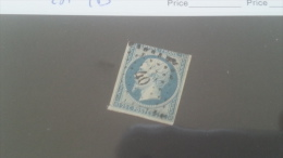 LOT 212442 TIMBRE DE FRANCE OBLITERE N�15 VALEUR 285 EUROS TB