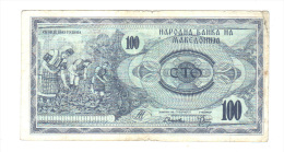 Macedoine: Billet De 100 Cto Denar, 1992 (14-2184) - Macedonia