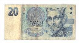 Tchequie: Billet De 20 Duacet Korun Ceskych, 1994 (14-2185) - Tchéquie