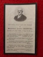 LOUIS CHANCEL AVIS DE DECES 1910 - Décès