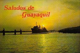 Pk Guayaquil:71:Un Bello Atardecer - Equateur