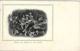 Ceylon Postcard Under The Shades Of The Palms Ananas Native Boys (4307) - Cartes Postales