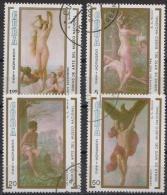 Cuba 1990 - Art. Painting Gemalde  Mi. 3402-3405 - 4v  Incomplete Set - Used Gestempelt - Kuba