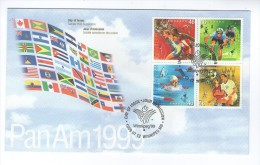 CANADA WINNIPEG 1999 PAN AMERICAN GAMES FDC PREMIER JOUR FIRST DAY COVER SPORT - Sobre Primer Día (FDC)