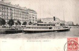 SUISSE LE BATEAU SALON GENEVE CIRCULEE 1905 - GE Ginevra